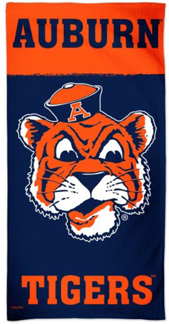 WinCraft Auburn University Tigersビーチタオル、レトロカレッジVault Edition withプレミアムSpectraグラフィックス、30 x 60 cm B07FW14LL2