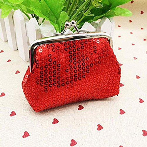 Red Clearance Noopvan Coin Small Clutch 2018 Wallet Wallet Wallet Purse Retro Womens Ladies Sequin Handbag 6fpqxR5wf