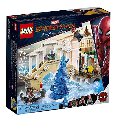 61I%2BCDVXXyL - LEGO Marvel Spider-Man Far From Home: Hydro-Man Attack 76129 Building Kit, New 2019 (471 Pieces)