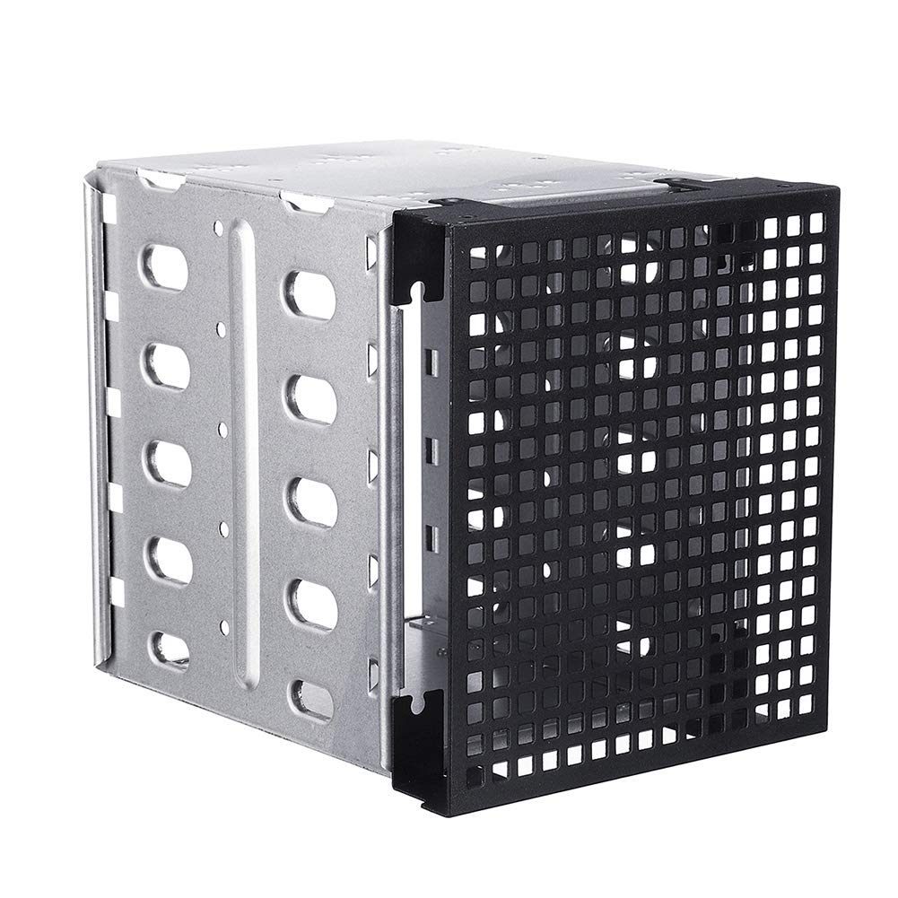 Shentesel 5 Slots 3.5inch SATA SAS HDD Cage Rack Hard Driver Tray Caddy with Fan Space