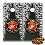 CL0061 Marines CORNHOLE LAMINATED DECAL WRAP SET Decals Board Boards Vinyl Sticker Stickers Bean Bag Game Wraps Vinyl Graphic Image Corn Hole Military Armed Forces Navy Airforce Marines Coast Guard