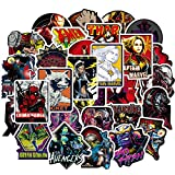 Revtronic Laptop Stickers for Superheros[100PCS] - Cool Comics Vinyl Decals for Hydro Flask Water Bottles MacBook Pad Phone Case Computer Bumper Skateboard Luggage - Graffiti Sticker for Kids - Adult