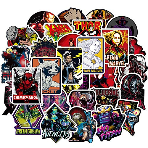 Laptop Stickers for The Avengers Superheros[100PCS], Cool Comics Vinyl Decals for Hydro Flask Water Bottles MacBook Pad Phone Case Computer Bumper Skateboard Luggage, Graffiti Sticker for Kids, Adult -