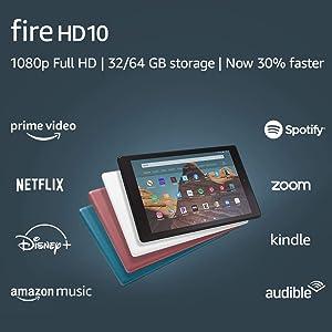 """Fire HD 10 Tablet (10.1"""" 1080p full HD display, 64 GB) – Black"""