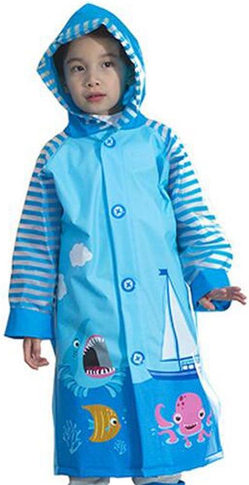 KINDOYO Childrens Waterproof Raincoat Jacket with Hooded and Sleeves