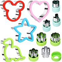 Stainless Steel Sandwiches Cutter Set, Mickey Mouse & Dinosaur & Heart & Star Shapes Sandwich Cutters Cookie Cutters…
