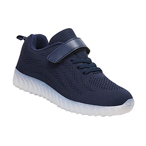 Daytwork Zapatos Deortivos Flashing Zapatillas - Niño Niña LED Flash Light Up USB Cargando Luminoso Malla Low Top Niños Al Aire Libre Running: Amazon.es: ...