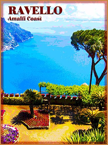 Metal Advertisement (MAGNET Ravello Amalfi Italy Vintage Italian Europe Travel Advertisement Magnet Print)