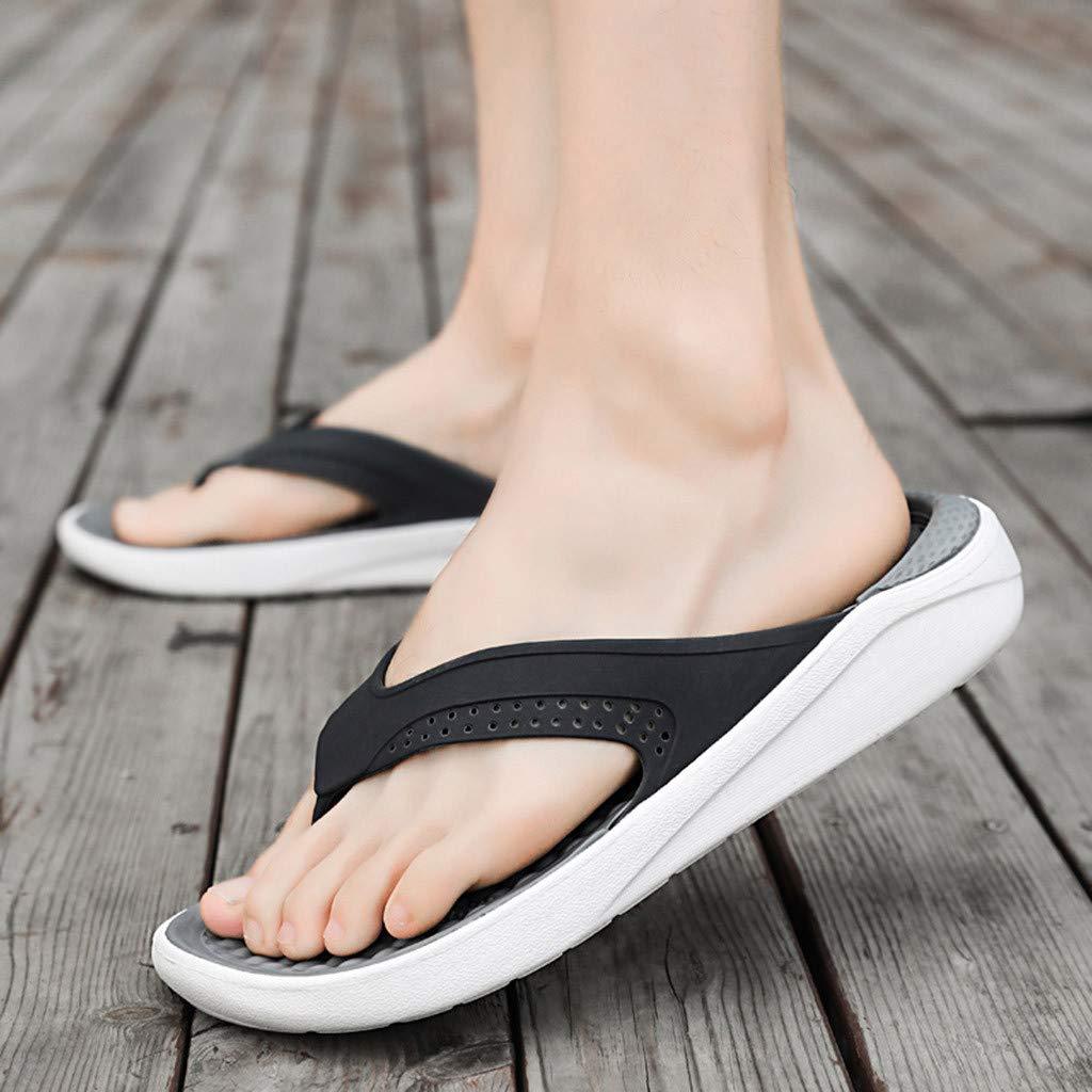 Corriee Flip Flops for Men Summer Leisure Hollow Out Beach Sandals Mens Breathable Comfy Shoes