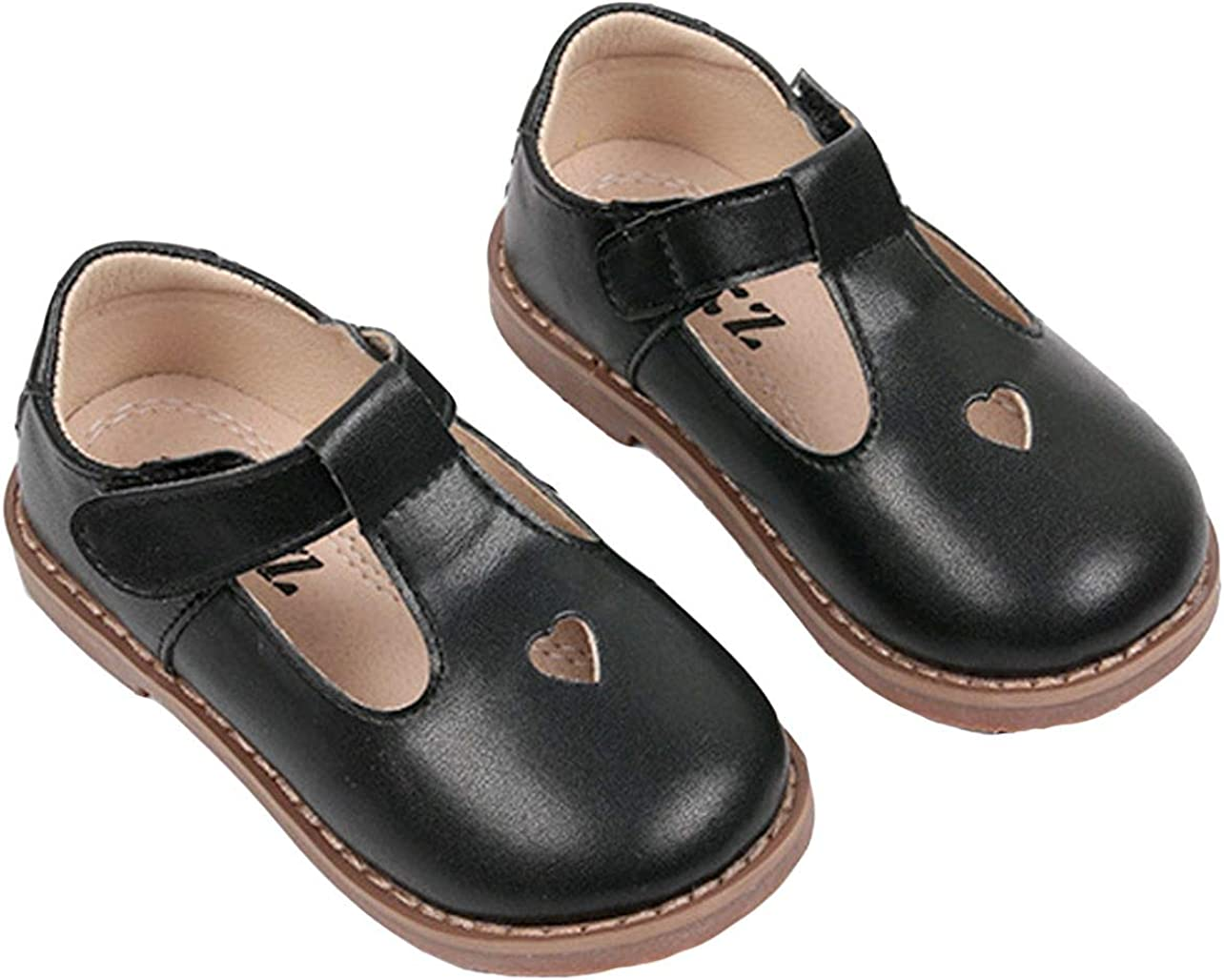 WUIWUIYU Girls Oxfords Shoes T-Strap Casual Walking School Uniform Dress Princess Mary Jane Flats
