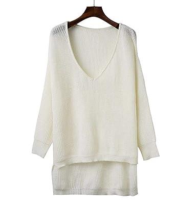 48f248e17 Off Shoulder Split Knitted Sweater Women Brand Black Pullovers ...