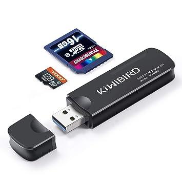 KiWiBiRD USB 3.0 (3.1 Gen 1) Lector de Tarjetas de Super-Velocidad 8-in-1 for SDXC, SD, MMC, RS-MMC, SDHC, Micro SD, Micro SDXC, Micro SDHC Cards ...