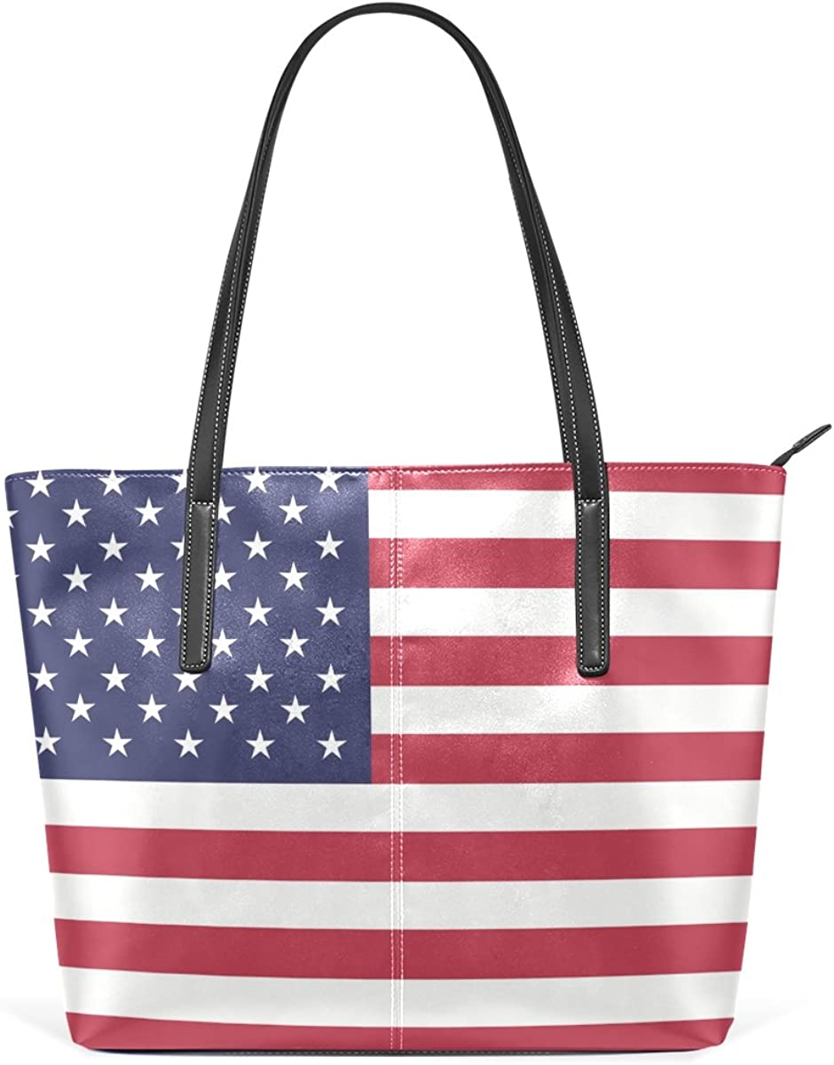 Ethel Ernest Flag Of America Womens Purse PU Leather Shoulder Tote Bag