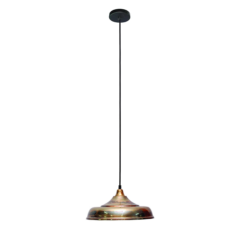 Yosemite Home Decor FD50419-1NB 1-Light Vessel Pendant Natural Oxidizes Brass Finish