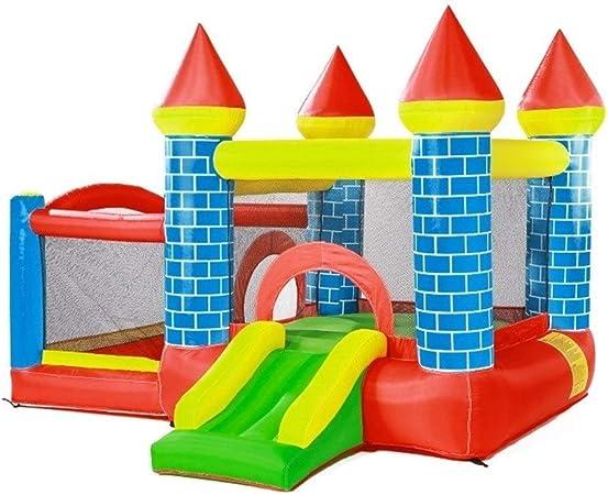 Toboganes Instalaciones para Niños Productos para Niños Castillos Hinchables Trampolines De Jardín De Infantes Castillos Traviesos para Niños Al Aire Libre (Color : Blue, Size : 295x270x210cm): Amazon.es: Hogar