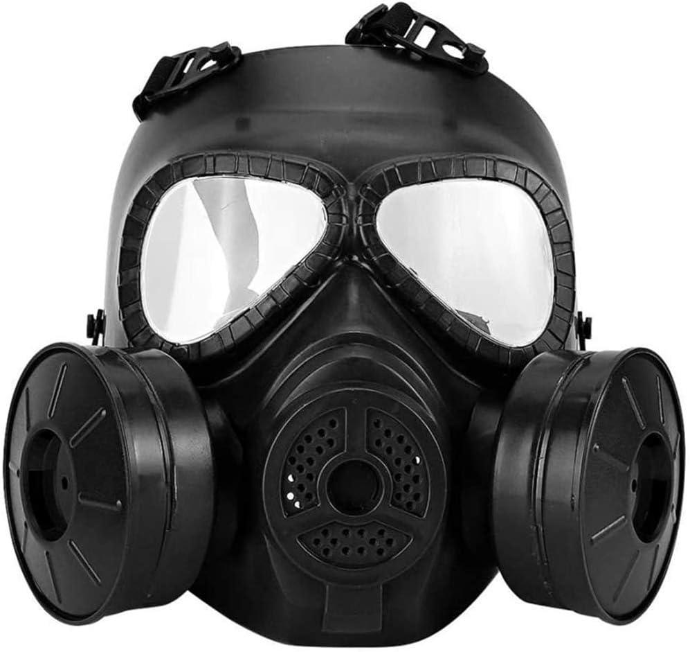 All-Purpose Protección Facial Completa Protector Facial Seguridad Gafas Protectoras Engranaje con Ventilador Doble Filtro A Prueba Rayos UV para Pintar Soldadura por Pulverización Industrial