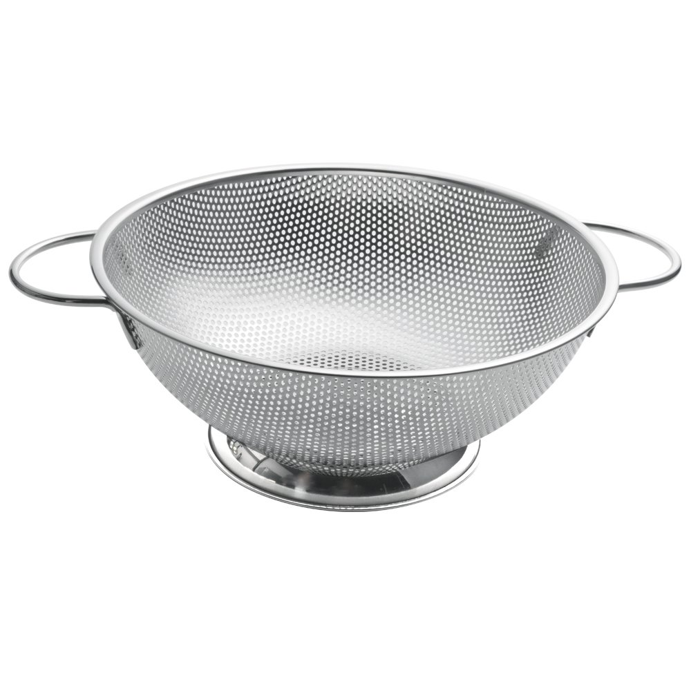 ZESPROKA Stainless Steel Micro-perforated 5-Quart Colander Strainer - With Solid Handles and Stable Draining Ring Base - Ideal for Pasta, Beans, Noodles, Vegetables & Fruits by ZESPROKA