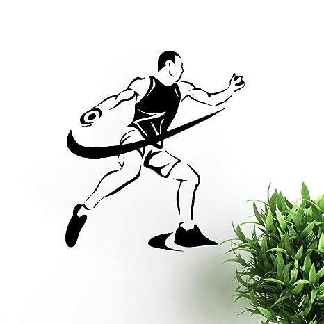 zhuziji Tatuajes de Pared Competiciones Deportivas Atletismo Disco ...