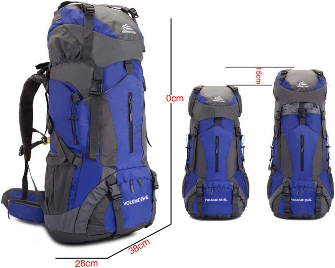 Trekking Viajes Deportes Fimghsoo Mochila de Senderismo 60L Mochila de Monta/ñismo de Nailon con Estructura Interna y Capa para Lluvia Alpinismo Senderismo Camping