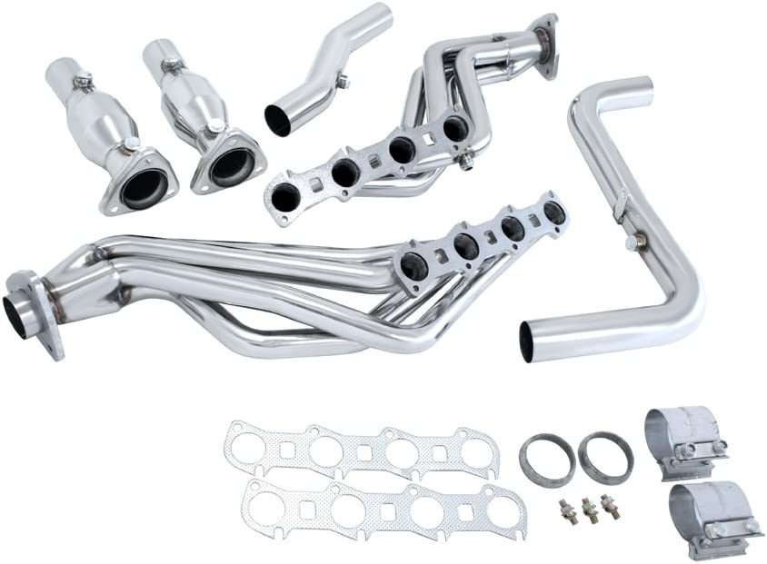 Manzo USA Ford F-150 4-1 Stainless Steel Exhaust Headers Downpipe
