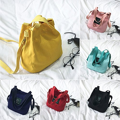 Yellow Swagger Card Bag Shoulder Bag Woopower Handbag Canvas Lady For Shopping Mini Single Women wOW4z