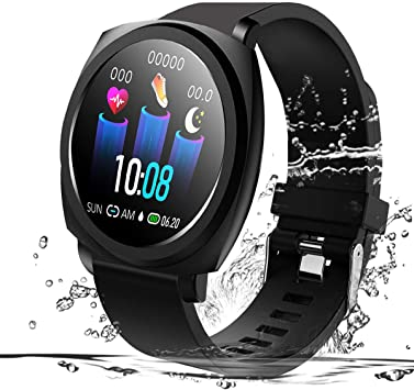 feifuns Smart Watch with Connected GPS for Android iOS Phone, Fitness Tracker Watches with Heart Rate/Blood Pressure Monitor,Call/SMS Reminder,Sleep ...
