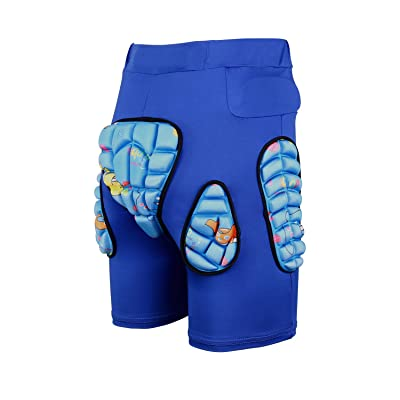 Kids Protection Hip 3D Padded Shorts Pants Breathable Lightweight Protective Gear for Ski Skate Snowboard: Clothing