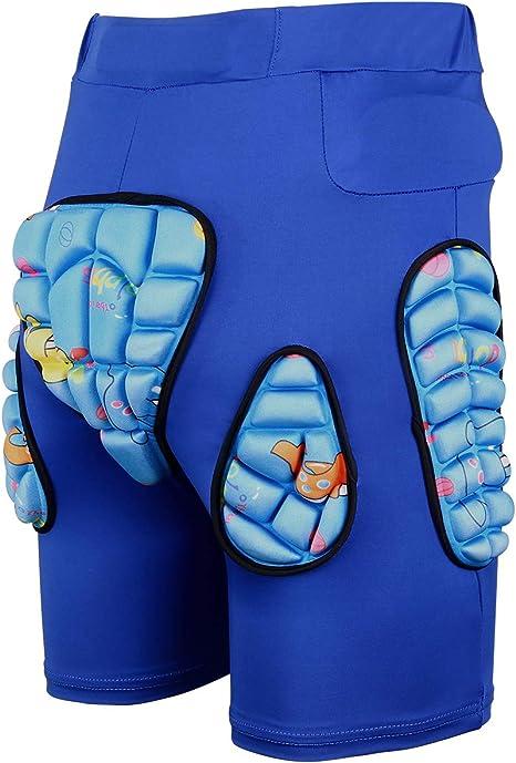 B Baosity 3D Protection Hip Butt EVA Padded Shorts Pants Protective Gear Guard Impact Pad for Ski Ice Skating Snowboard
