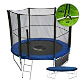 "Kanga 40"" / 6ft / 8ft / 10ft / 12ft Premium Trampoline with Safety Enclosure, Net, Ladder, Shoe Bag & Winter Cover"