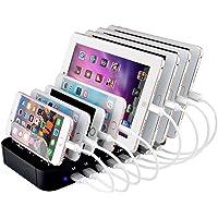 Evfun USB充電ステーション 8ポート 充電スタンド 収納充電 8台同時充電 1A /2.1A/2.4A iPhone iPod iPad Androidスマホ/タブレット対応 (ブラック)
