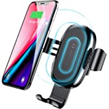 Baseus Wireless Car Charger Air Vent Phone Holder Gravity Car Mount Fast Charging for Samsung Galaxy S8, S7/S7 Edge, Note 8 5 and Standard Charge for iPhone X, 8/8 Plus & Qi Enabled Devices (Black)