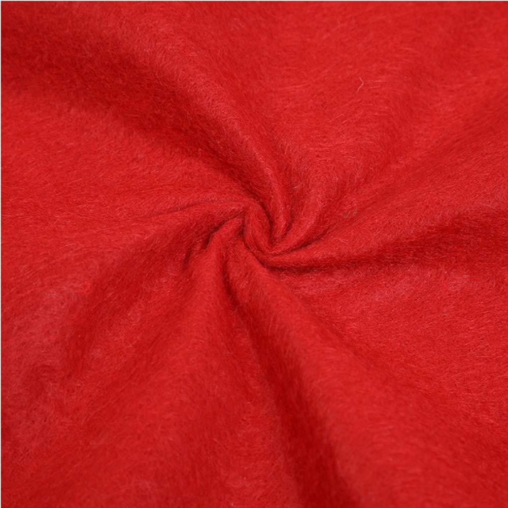 Red, 80cm Meiwash Gonna Albero di Natale Copertura Rotonda Albero di Natale Copertura per Pavimento Tappetino Ornamenti Tappeto Pieghevole di Natale Capodanno Decorazione per Feste