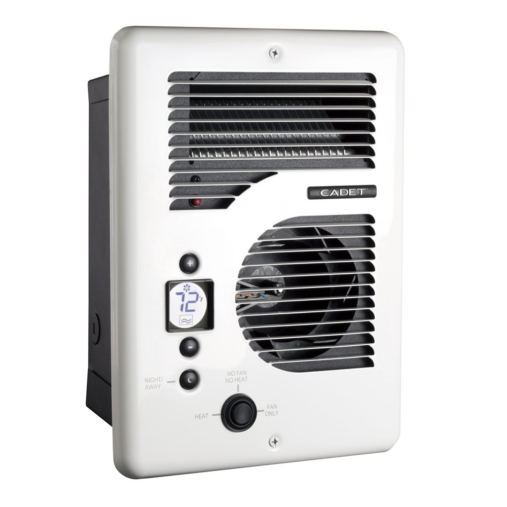 Cadet CEC163TW Energy Plus multi-watt 120/240V wall heater with electronic thermostat, white