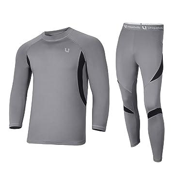 online store 1d1a4 101b7 UNIQUEBELLA Thermounterwäsche Funktionswäsche Herren Skiunterwäsche Winter  Suit Ski Thermo-Unterwäsche Set Thermowäsche Unterhemd + Unterhose
