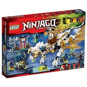 Amazon.com: LEGO Ninjago 70734 Dragón del Maestro Wu ...