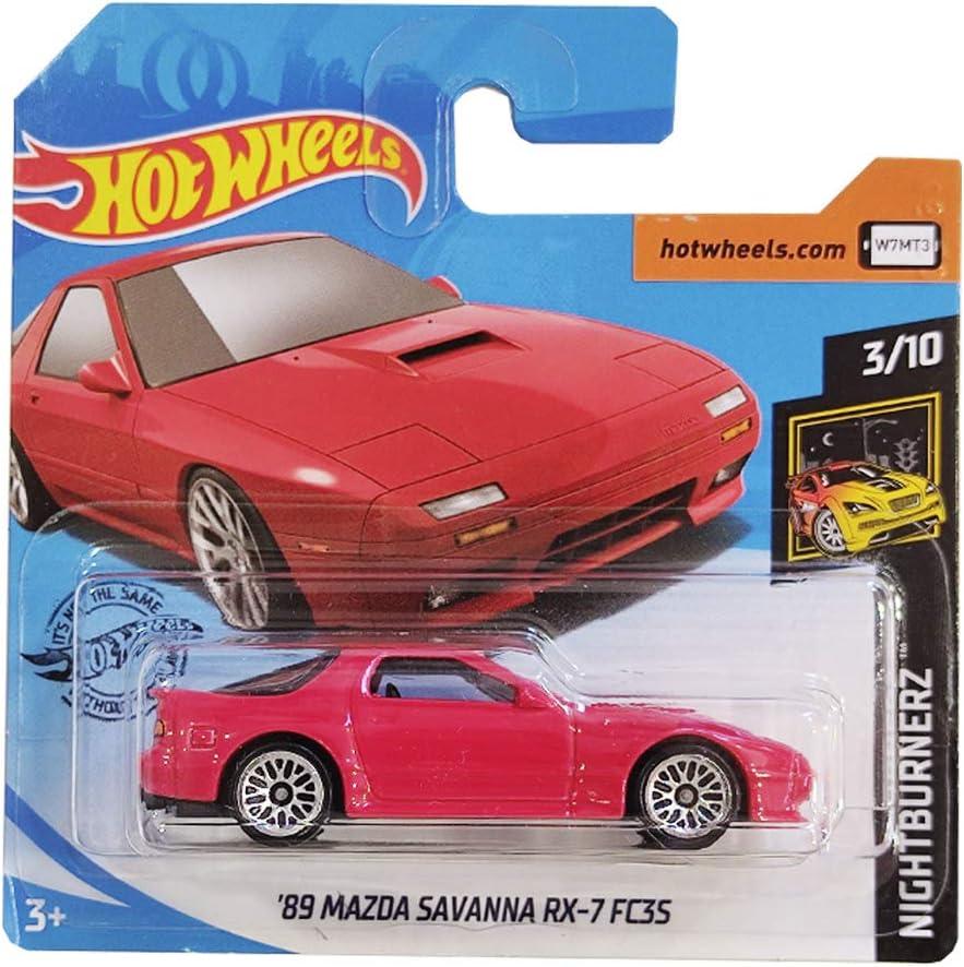 Hot Wheels 2020 Nightburnerz 95 Mazda Savanna RX-7 Red 223//250