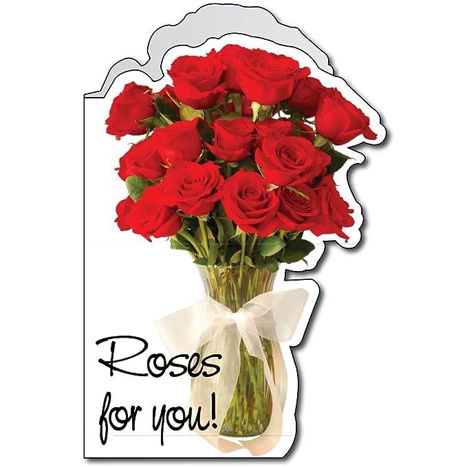 Amazon.com: Tarjeta de 2 x 3 gigante Aniversario, Rose, W ...
