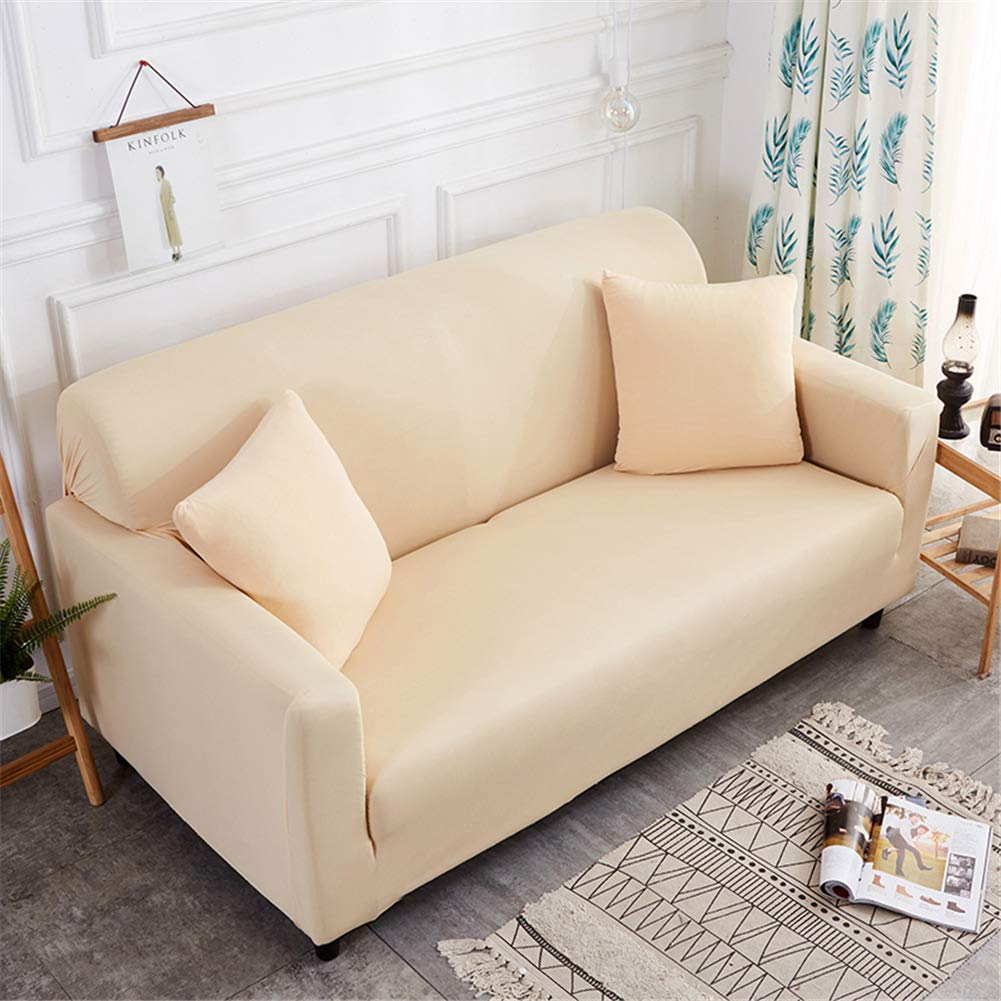 Funda Sofá de 3 plazas Universal Estiramiento, Morbuy Color sólido Cubierta de Sofá Cubre Sofá Funda Furniture Protector Antideslizante Elastic Soft ...