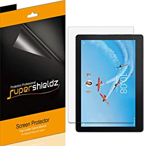 (3 Pack) Supershieldz for Lenovo Tab E10 (10.1 inch) Screen Protector, High Definition Clear Shield (PET)