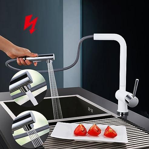 Homelody® Niederdruck Küchenarmatur Wasserhahn Herausziehbar