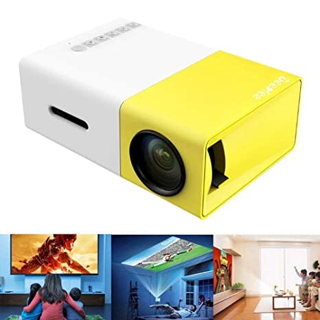JJSS Proyector LED Casa Oficina Mini proyector HD 1080P ...