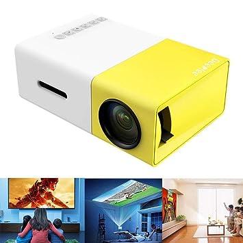 JJSS Proyector LED Casa Oficina Mini proyector HD 1080P Teatro de ...