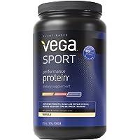 Vega Sport Performance Protein Powder Vanilla (Tub, 29.2 oz) - Plant-Based Vegan Protein Powder, BCAAs, Amino Acid, tart cherry, Non Dairy, Gluten Free, Non GMO (Packaging May Vary)