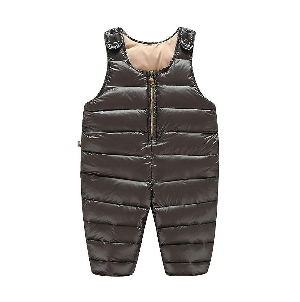 YOUJIA Infantile Bambino Inverno Salopette Tuta da Neve Caldo Spessa Imbottitura Pantalone Outwear