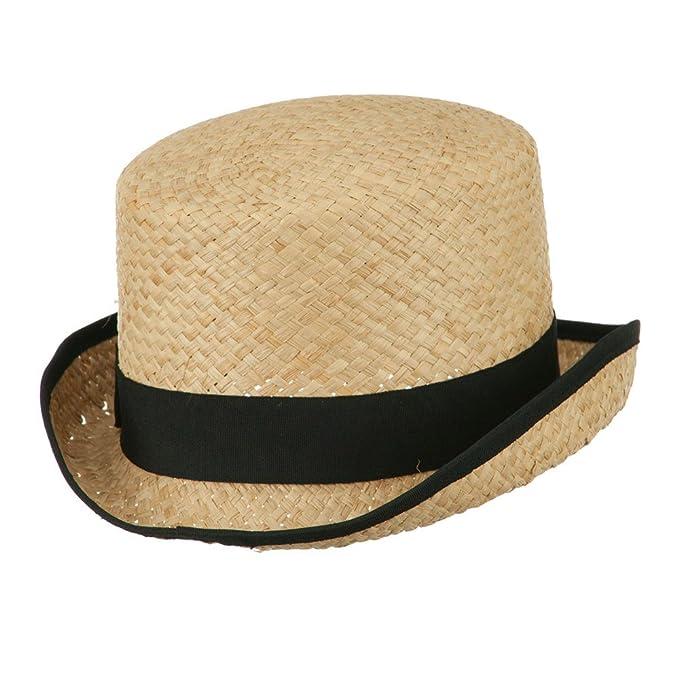 Steampunk Men's Hats Raffia Straw Top Hat Fedora - Black $26.49 AT vintagedancer.com