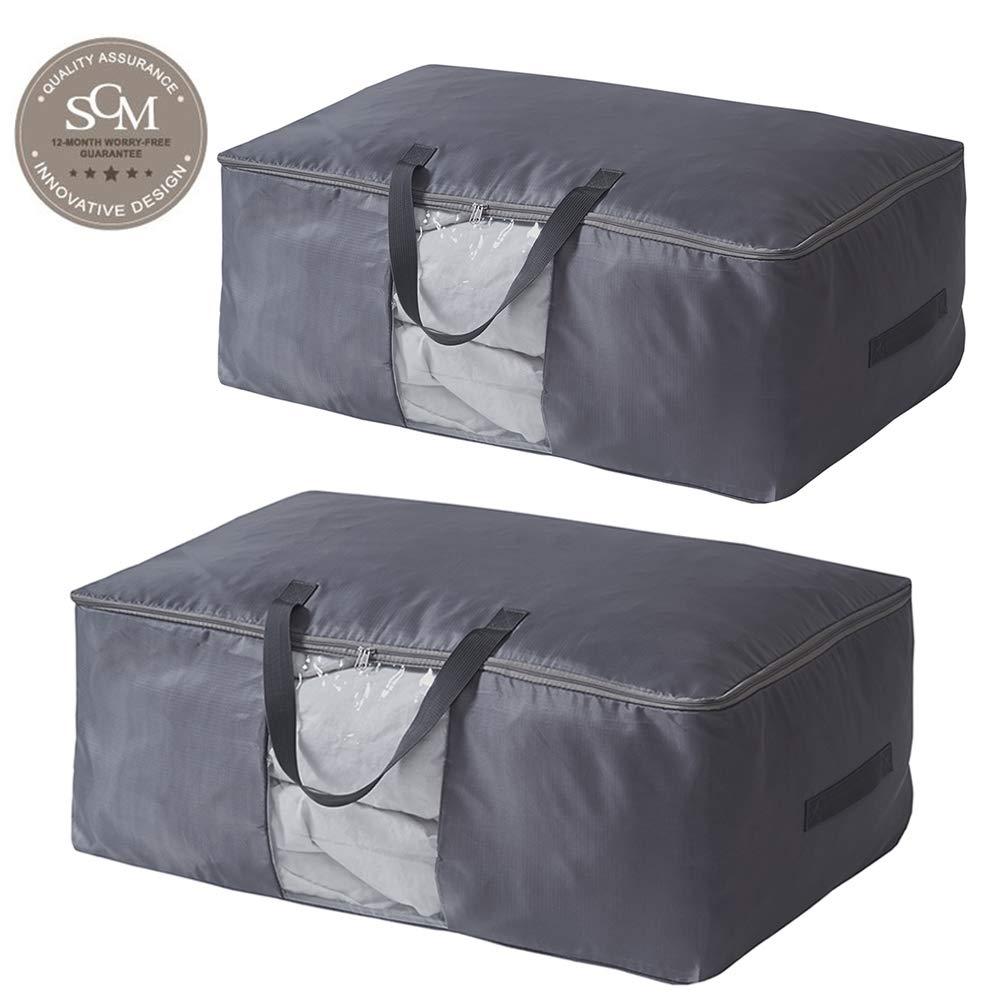 2 St/ück Aufbewahrungstasche f/ür Bettdecken Kissen Kleidung Bettwaren Aufbewahrungstasche Bettenaufbewahrungstasche 70x48x28cm