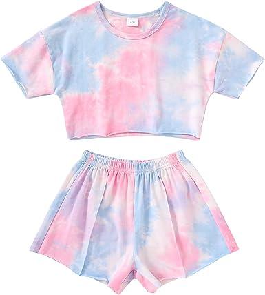 Kids ToddlerBaby Girls Shorts Outfits Set Leopard Print Ruffle Dress T-Shirt Tops+Short Pants 2Pc Summer Clothes Set