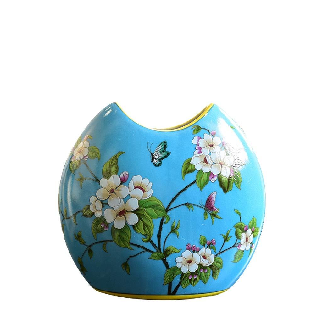 セラミックス花水耕栽培花瓶リビングルームの柔らかい調度品花挿入機装飾 anQna (形状 けいじょう : 1) B07SDQNGZP  1