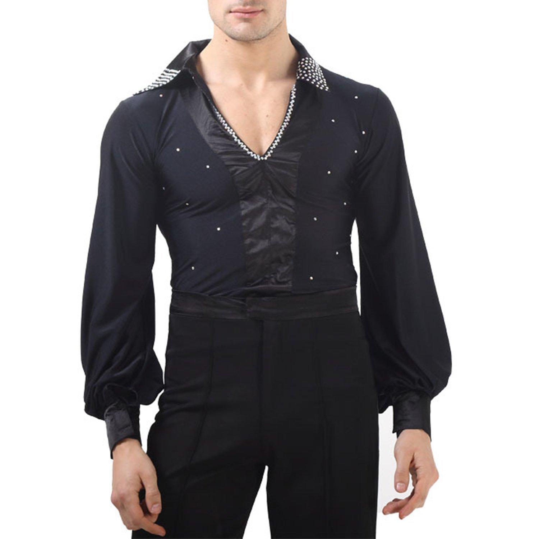 BININBOX, Danse Latine vêtements de Danse de Salon d'été Costume Veste d'été Hommes Adultes