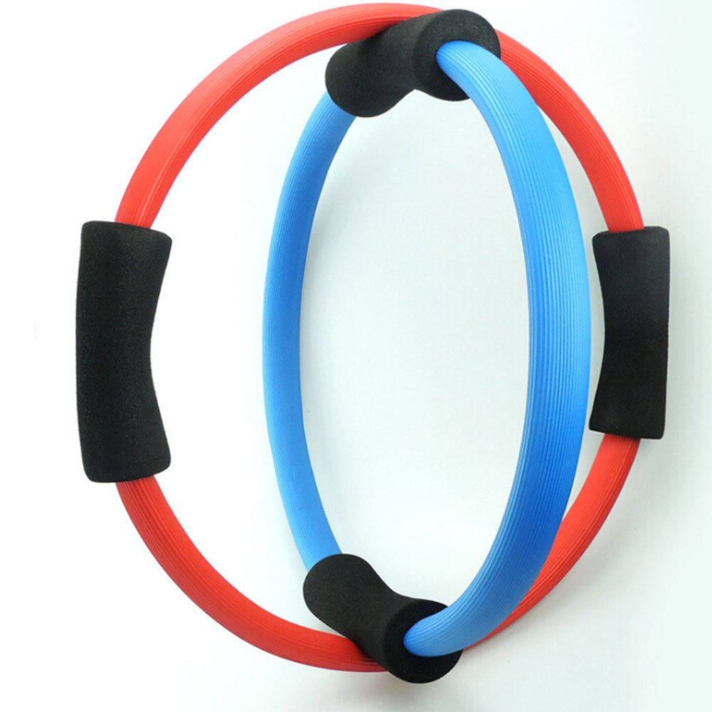 ZYN Pilates Ring-Yoga Fitness Magic Circle with Two Form Handle for Sport Body Workout Color Random